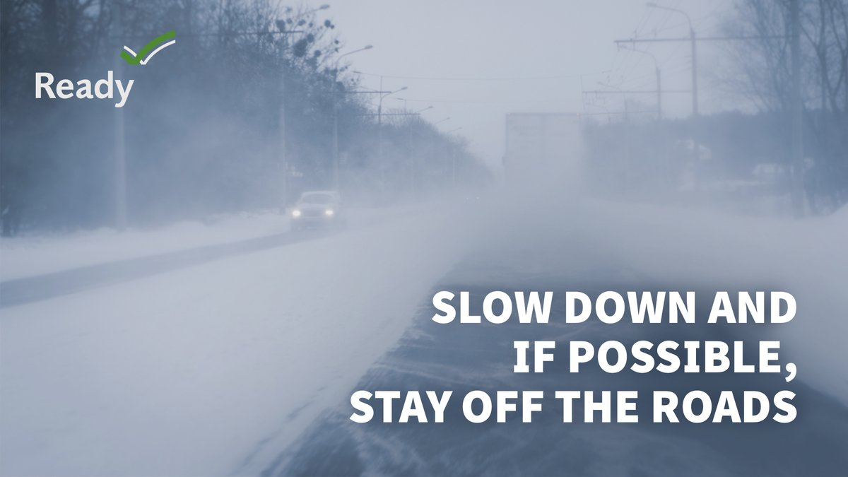 #TuesdayThoughts: Try & stay off roads during a winter storm. But if you must drive, remember: Ice and ❄️ snow, take it slow—slower speed, slower acceleration, slower steering & slower braking. More #WinterSafety tips at: