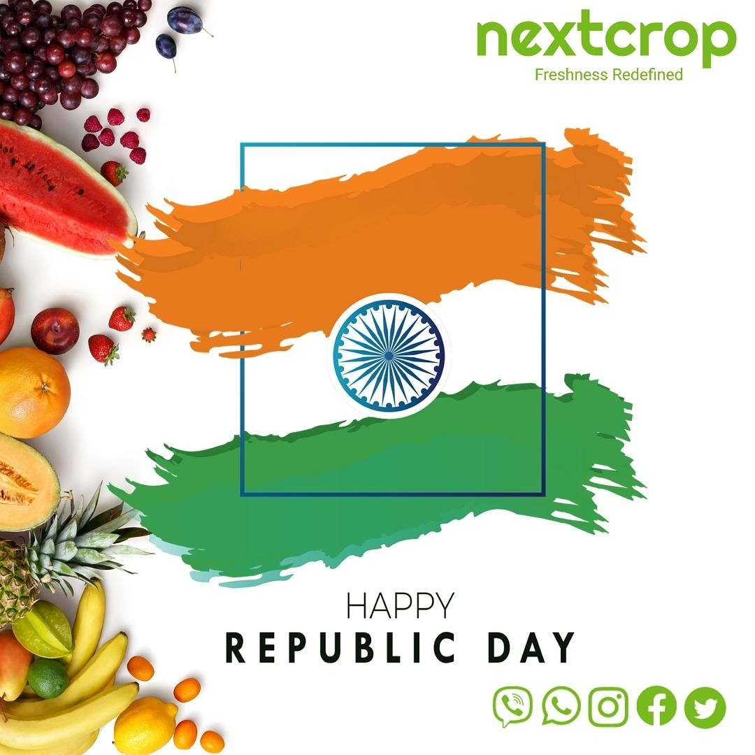 Happy 72nd Republic day to everyone.   #nextcrop #RepublicDay #2021year #freshness #farmfresh #makeinindia #quality #farmtotable #online #best #clean #fresh #vegetables #farmer #nature #instagood #healthyeats #goodeats