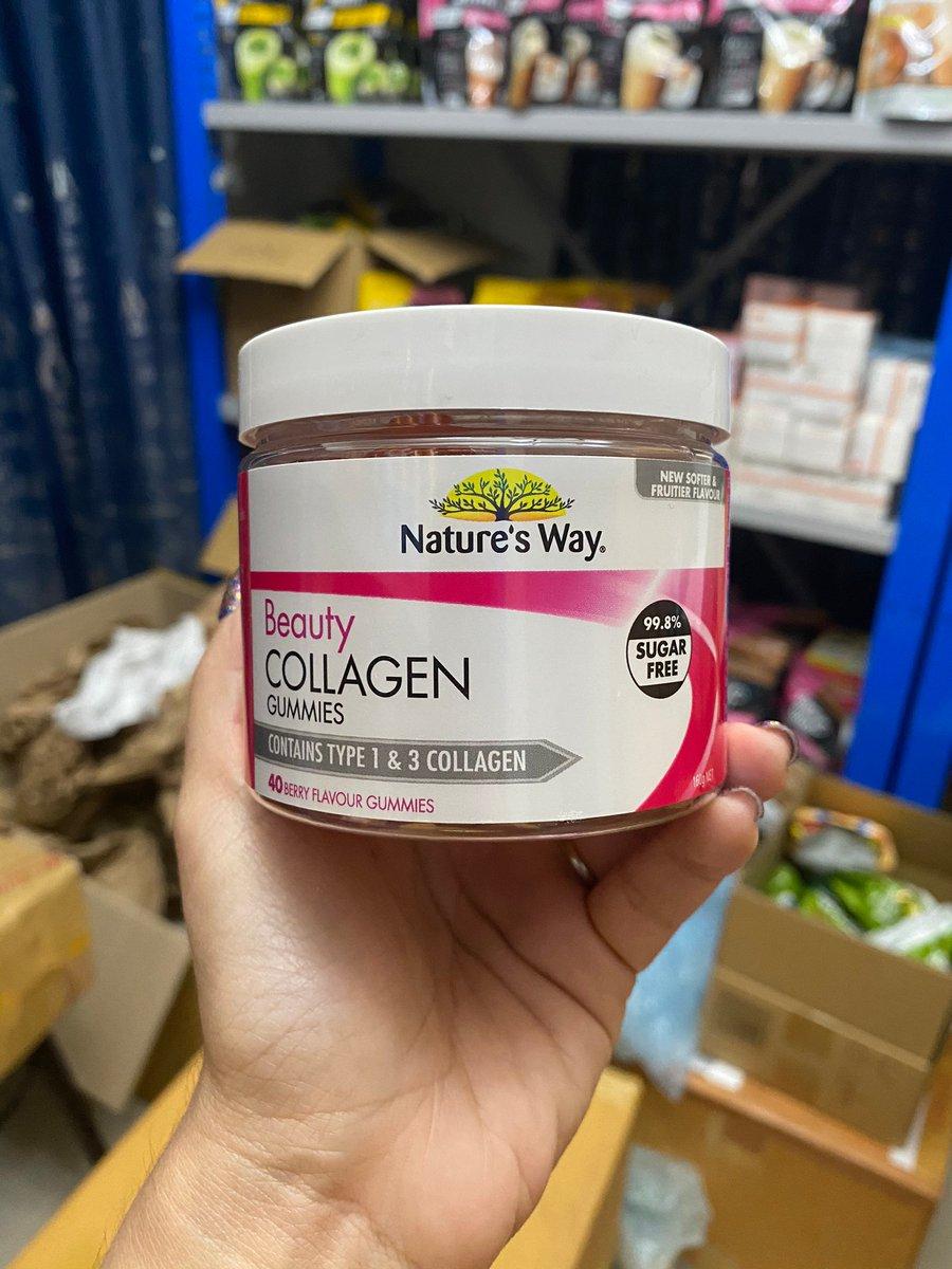 ราคา 549 บาท  #Nature Way Beauty Collagen  40 เม็ดคอลลาเจน #เย็ลลี่แบบเคี้ยว ต้านริ้วรอย ยกกระชับผิวหน้าให้เต่งตึงและใสเนียน  #คอลลาเจนตัวนี้ ให้โดสคอลลาเจนถึง2,500mg ในรูปแบบที่ทานง่ายเหมากับคนที่ไม่ชอบชงแบบผง หรือกลืนแบบเม็ด ร้านเราจัดให้