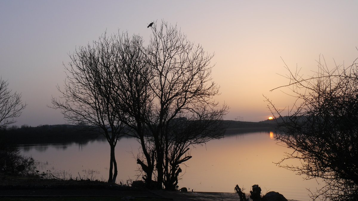 Ballyalla Lake at Sunset, Ennis, Clare Ireland.  6:23PM 12th March 2014.  #TBT #ThrowbackTuesday #Photography #Sunset #BallyallaLake #Ennis #Clare #Ireland
