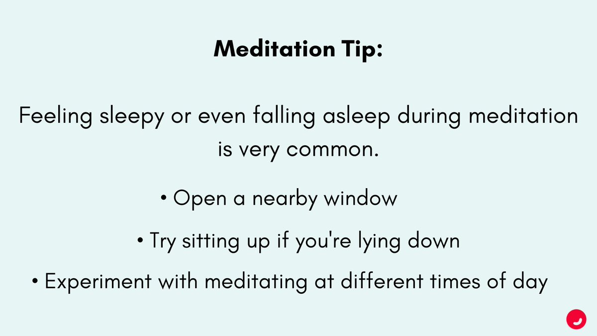 Feeling sleepy during meditation? You're not alone. Learning to find the balance between relaxation and focus is an ongoing practice. #TuesdayTips