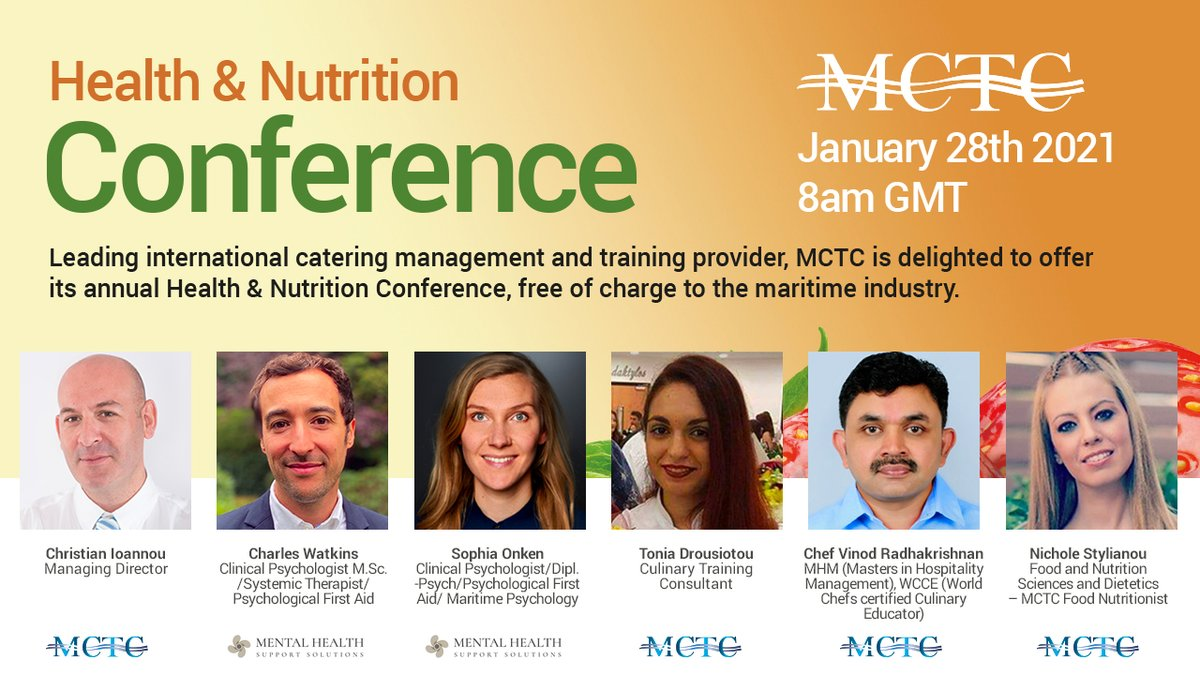 Join us on #Thursday 28th Jan 8AM GMT for our #Health & #Nutrition Conference. It will break down myths & #educate on food, nutrition & how lifestyle choices impact us.   Click here to register for FREE:  Click here for programme:
