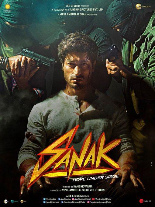 Love the first look of #Sanak @VidyutJammwal bro! Looking forward to watching you and @RukminiMaitra light the screen on fire!  #SidK #VipulAmrutlalShah @IamRoySanyal @kanishk_v @sunshinepicture @Aashin_A_Shah @ZeeStudios_ @ZEE5India @zeecinema @thysubham