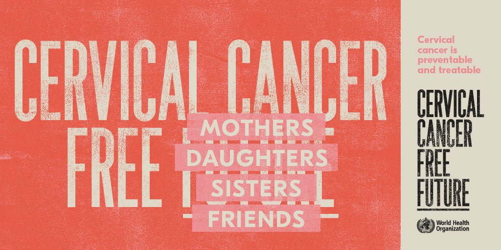 Vaccination against HPV helps protect:  🔵mothers 🔵daughters 🔵sisters 🔵friends  From #CervicalCancer. Cervical cancer is preventable & treatable.