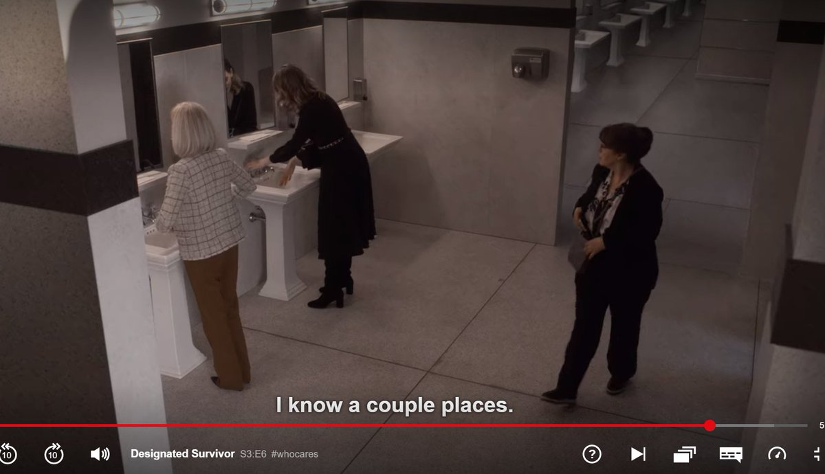 Wow, I'm impressed with #DesignatedSurvivor season 3 episode 6.  #TERF hysteria is nicely represented and looking ridiculous. I could name them the #ToiletsKaren.  Well done for supporting @MsJamieClayton and #TransWomenareWomen. 💛💛
