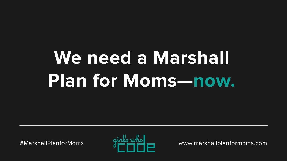 Replying to @reshmasaujani:   #MarshallPlanForMoms