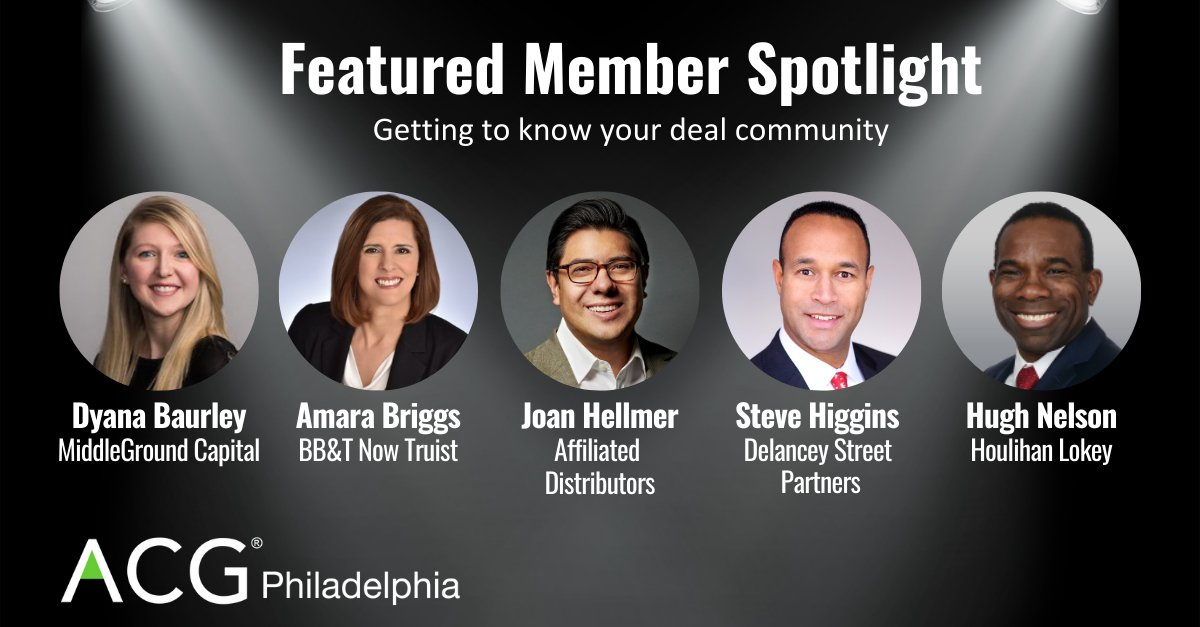 ICYMI - Check out our new Featured Member Spotlight! Our goal is to help our members get to know one another in the deal community! #Philadelphia #privateequity #MnA https://t.co/W9dZD130uE https://t.co/q6IjCx4VIH