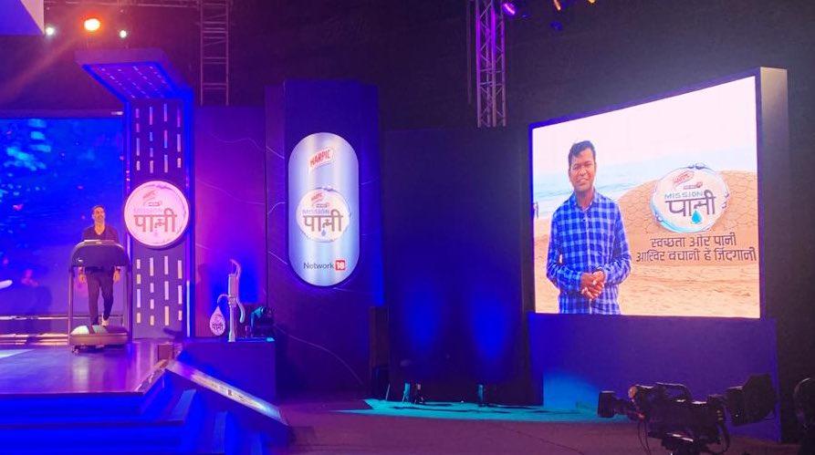 Happy to join News18 #MissionPaani Waterthon. Thanks to @akshaykumar Ji for his inspiring words .  #MeriJalPratigya