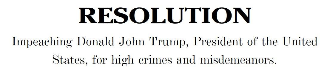 The Democrats' weird, time capsule article of impeachment. https://t.co/bCTHMLjhGi https://t.co/R2MNXp9qKr