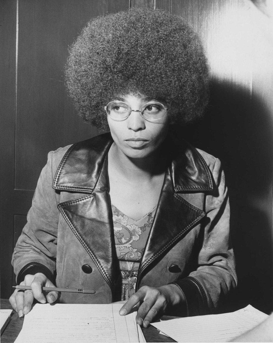 Happy birthday to scholar, activist, revolutionary, and leader, Dr. Angela Y. Davis.  Dr. Davis was born on January 26, 1944 in Birmingham, Alabama.  Photo 1: MediaNews Group/Oakland Tribune via Getty Photo 2: Djeneba Aduayom for TIME