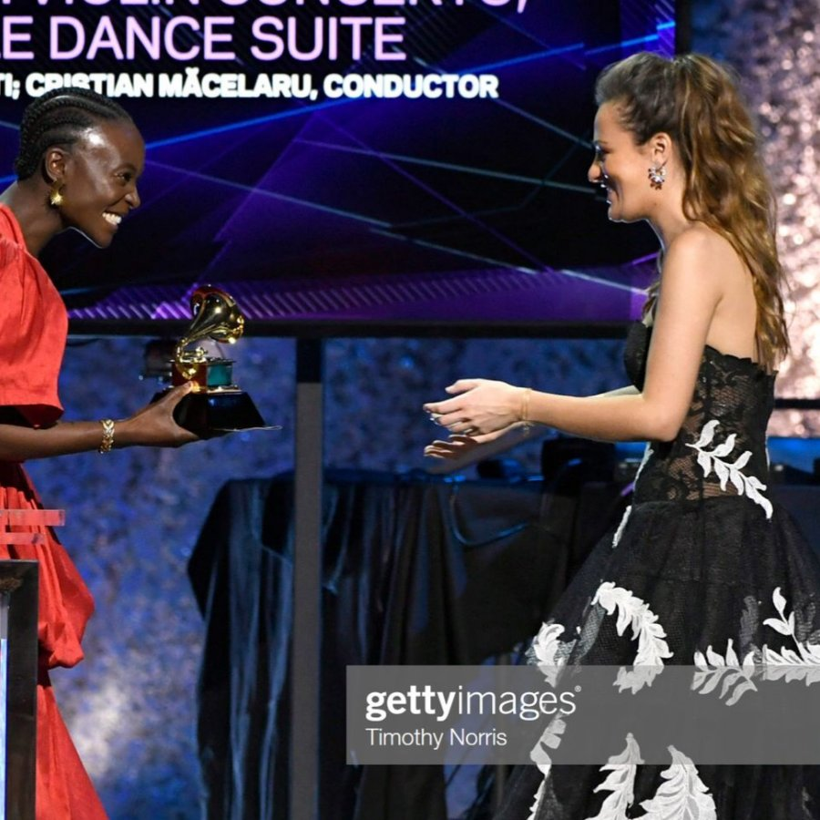 "One year ago today! We were at the 62nd #GRAMMYs where @NickyBenedetti won ""Best Classical Instrumental Solo"" for her album featuring @WyntonMarsalis Violin Concerto on @DeccaClassics with @CristiMacelaru who won for his role as conductor! 🏆"
