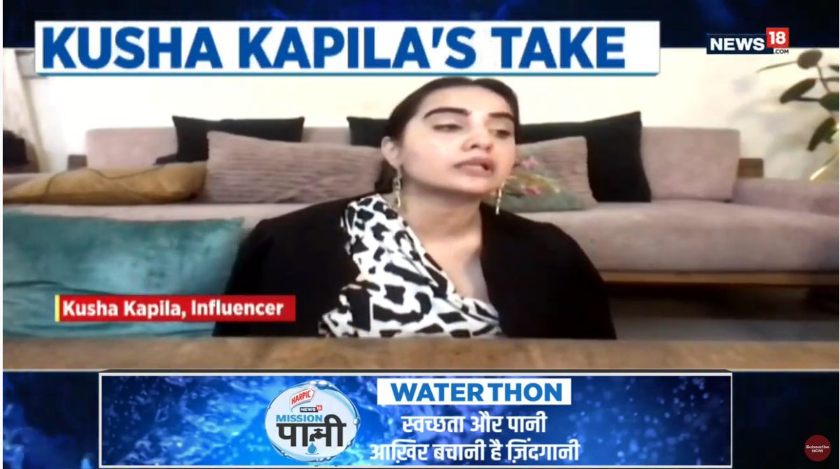 @GulPanag @harpic_india @smritiirani @bhumipednekar @tsrawatbjp Social media is a very powerful platform. Let's utilize that. I feel now is the time to have a curriculum around water conservation and more voices should be advocating it: @KushaKapila .   #MissionPaani #MeriJalPratigya @harpic_india