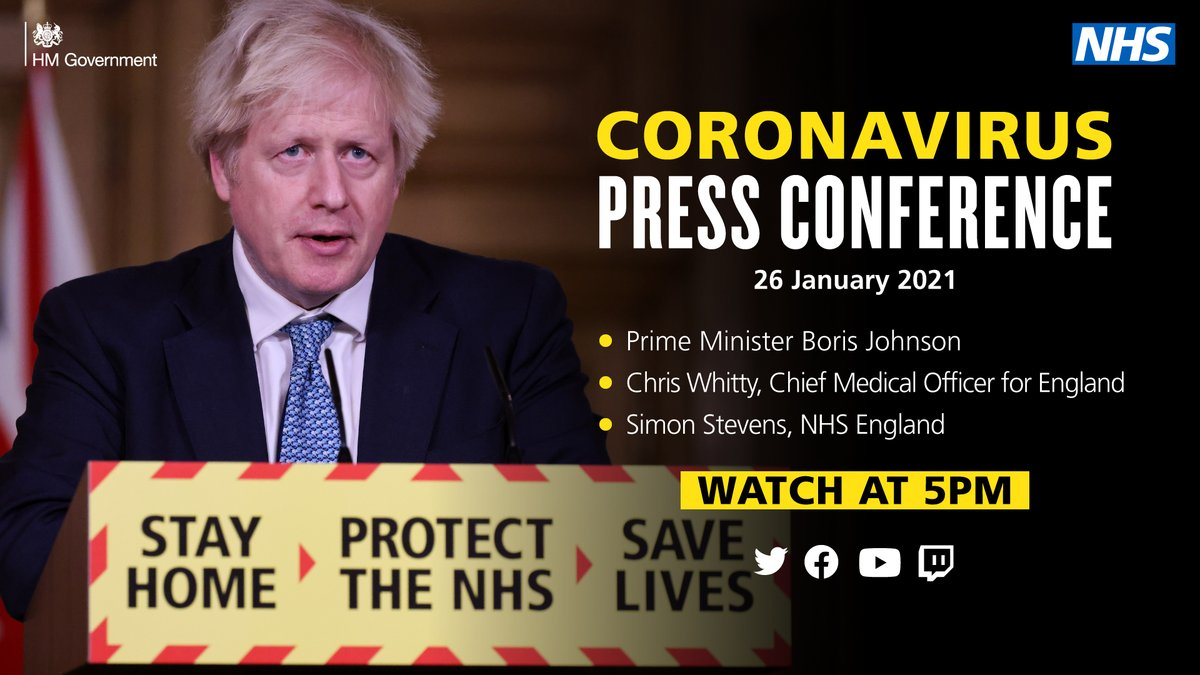 Watch today's coronavirus press conference live on our channels at 5pm.