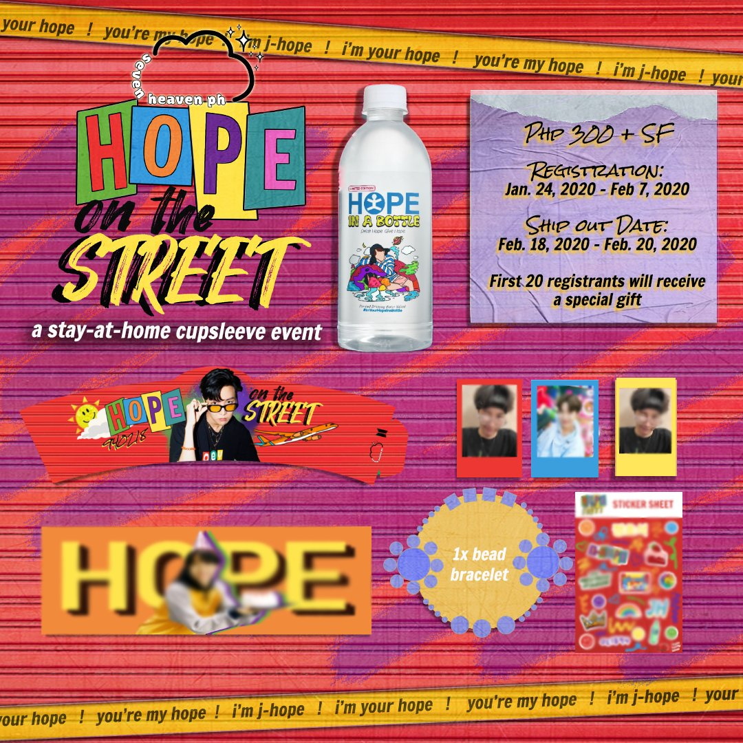 [HELP RT] Get these cute hobicore inclusions when you register for our #HopeOnTheStreet cupsleeve event!😍   First 20 buyers will get a free gift 💜  Register now!!!