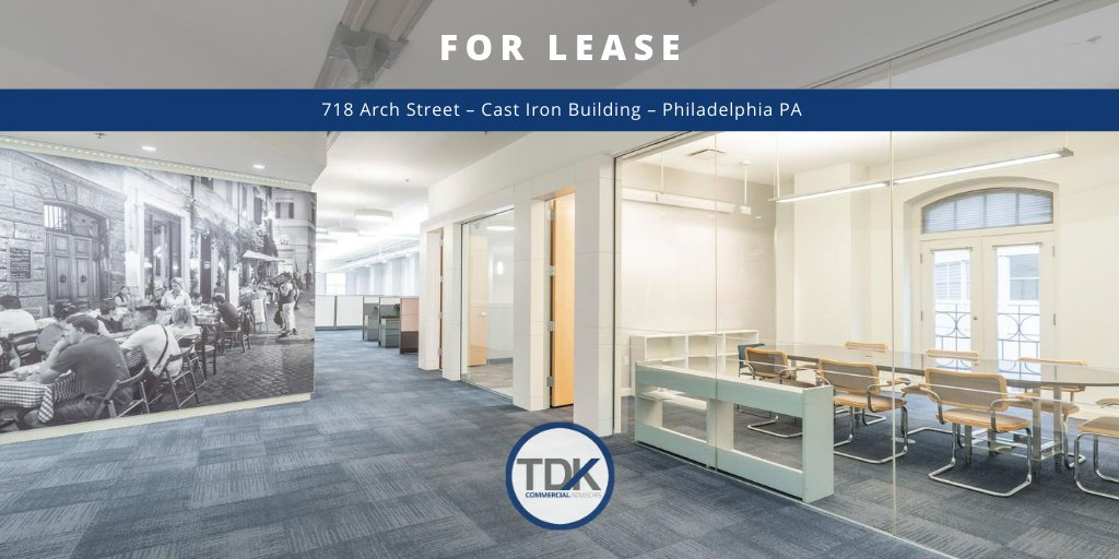 TDKCA BUILDS COMMUNITIES  718 Arch St – Cast Iron Building – #Philadelphia operates near capacity. Join other tenants  from fields like business, law, architecture, design & public/private funding.   ☎️ Call Tom: 215.292.5575  ➡️ Visit: https://t.co/kosLlK0L8l https://t.co/5w24rnMlND