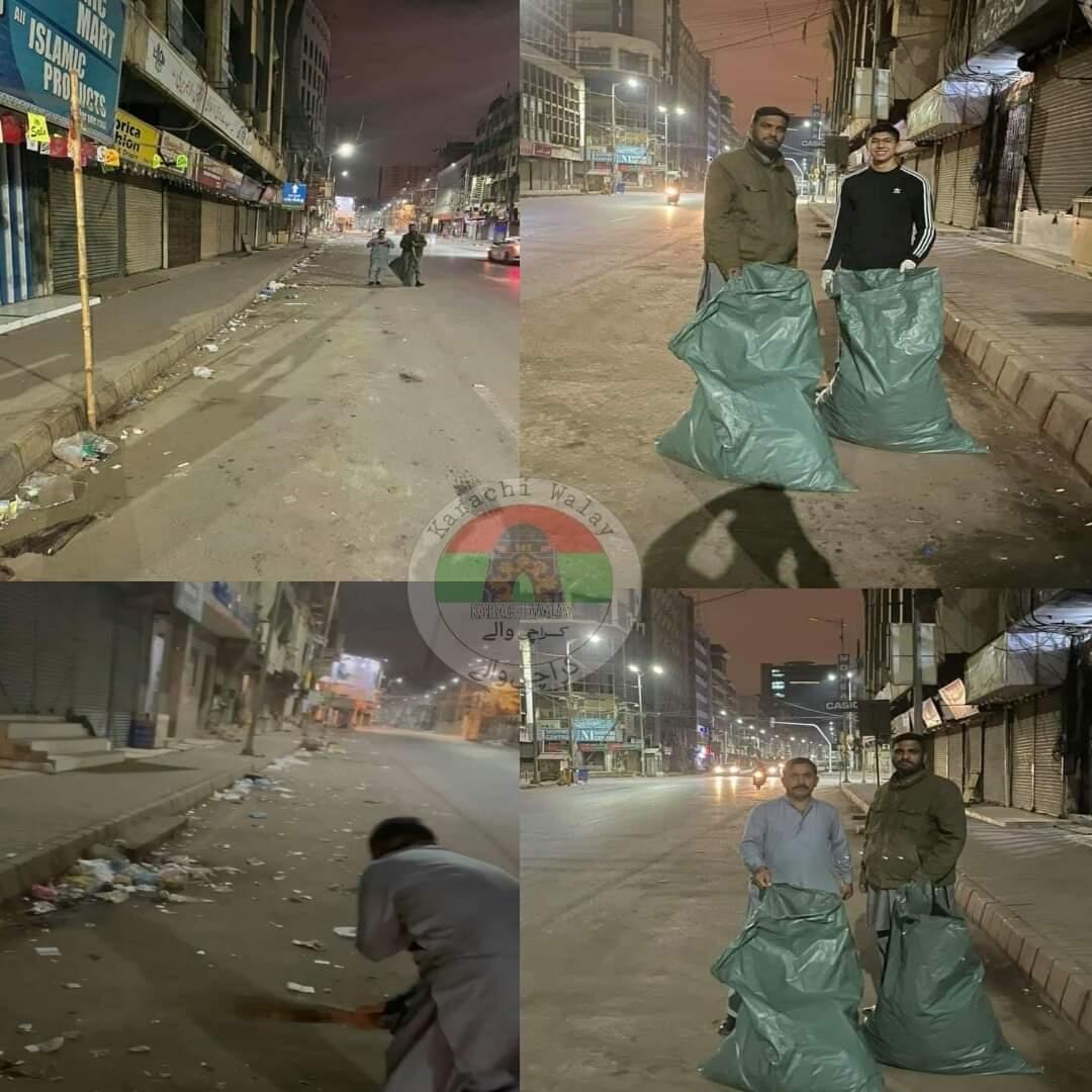 جو کام حکومت کو کرنے تھے وہ شہر کراچی کے نوجوان کر رہے ہیں, کراچی سے تعلق رکھنے والے نوجوانوں نے صدر کی سڑک پر کچرا جمع کرکے سڑک کو چمکا دیا اور حکومت کو یہ پیغام دیا اگر نیت ہو تو سب ہوسکتا ہے, #Shukriya #Karachi #Nojawan