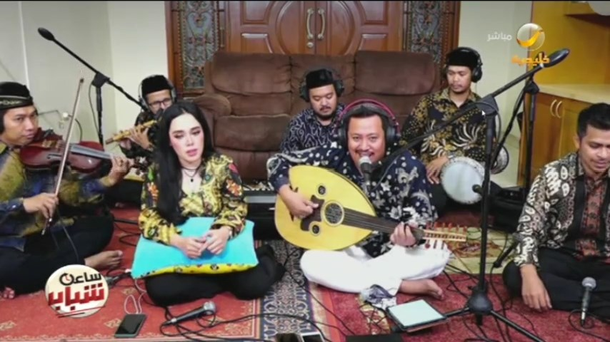 "Replying to @sa3etshabab: لاول مرة ""فرقة الكورونا الاندونيسية"" تغني باللغة العربية في ضيافة #ساعة_شباب  #روتانا_خليجية"