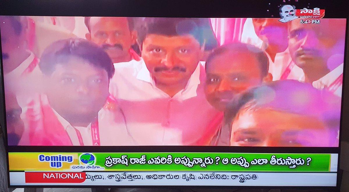 "Very happy yo see our #NRITRSUK members during the intro of @MPsantoshtrs Anna during ""పుడమి సాక్షిగా - Sakshi TV"" program 😍❤  #GreenIndiaChallenge"