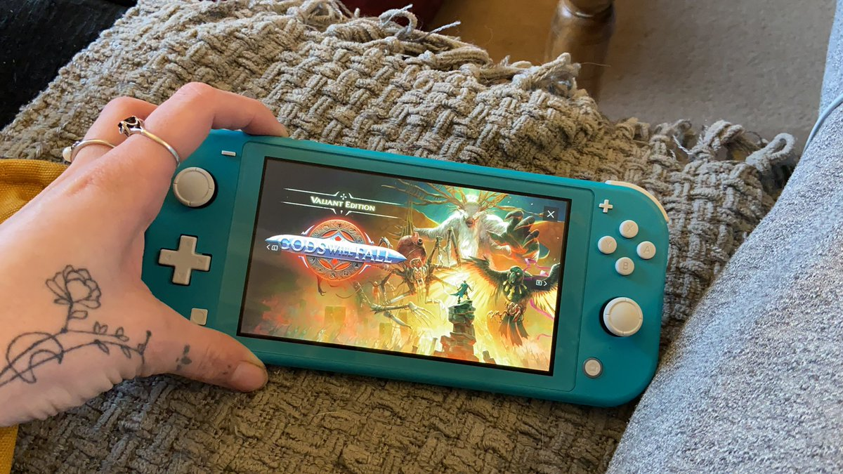 Woohoo only three more days until #godswillfall on #NintendoSwich .. the trailer looks so good , hope the gameplay is as good as the graphics haha. Don't let me down @NintendoUK 🤞