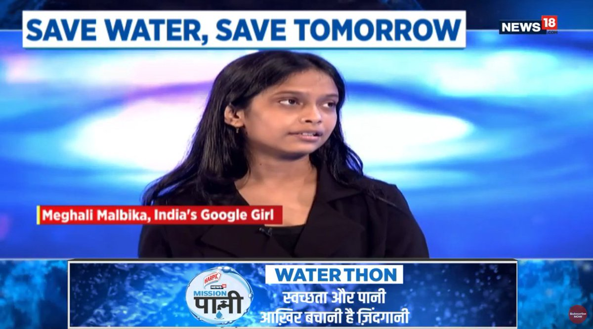 Plant trees, have enough public awareness as they are very important to save water, says Meghali Malbika, India's Google Girl. #MissionPaani #MeriJalPratigya @harpic_india