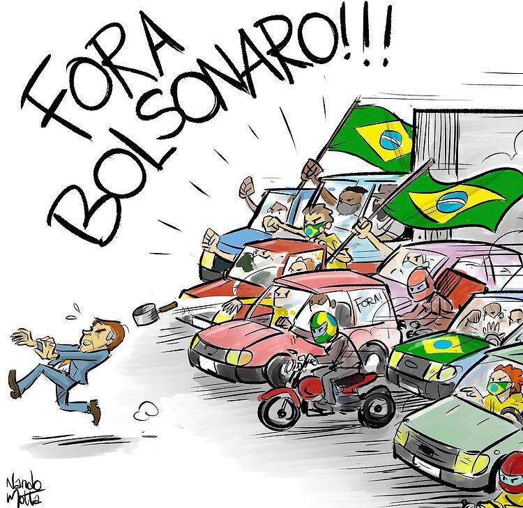 "Sâmia Bomfim в Twitter: ""Um espectro ronda o Brasil. O espectro do  impeachment de Bolsonaro. Charge: @desenhosdonando.… """