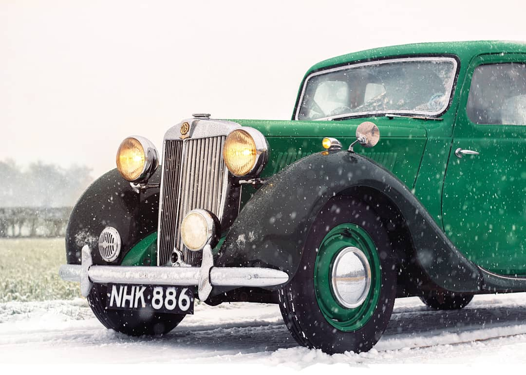 Tried car photography for the first time in the snow with @matthewtheplant 's favourite child, Emily. - #carphotography #classiccars #classicbeauties #mg #photography #snow #snowday