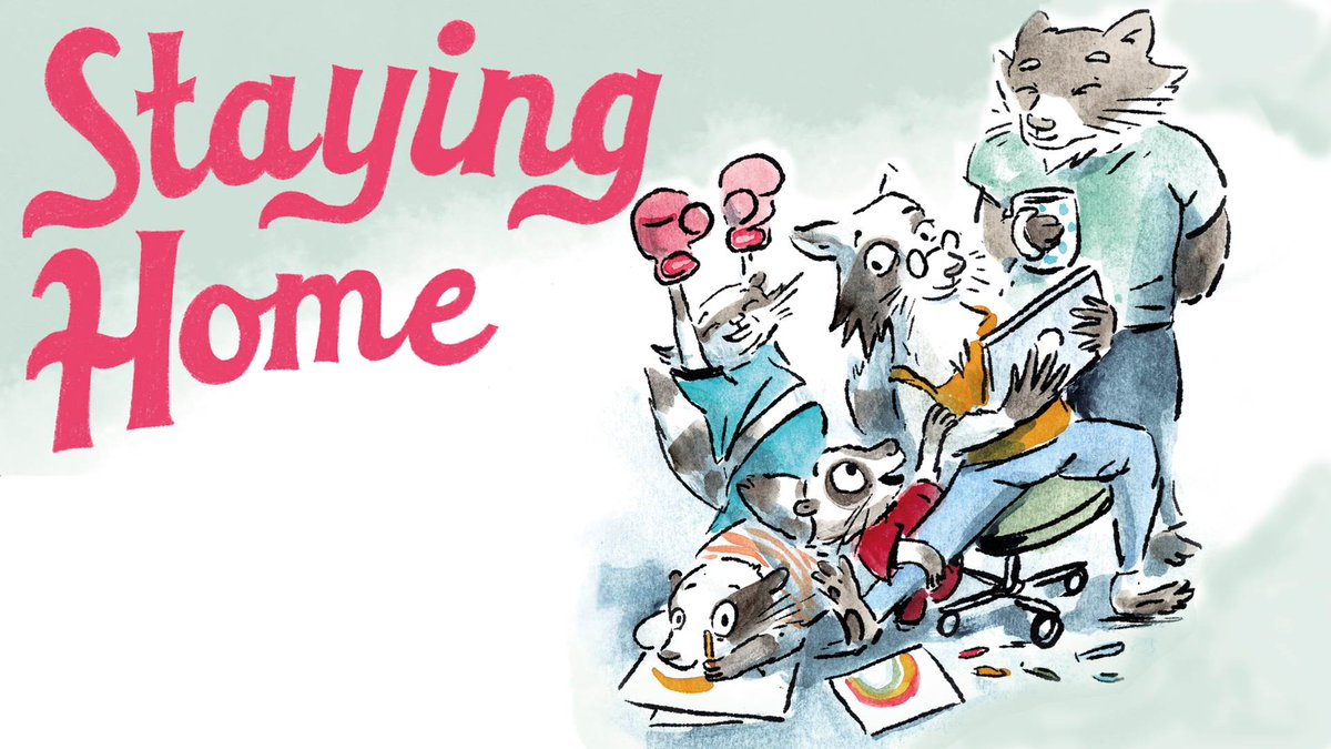 We love the free Staying Home book from Sally Nicholls and Viviane Schwarz - it's perfect lockdown reading material!   You can download it here - and find out how Sally's been starting and ending her lockdown days with stories: