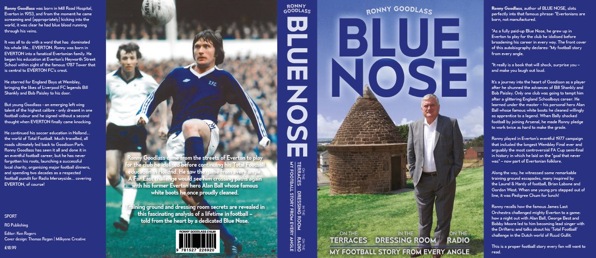 📖 | Enjoy listening to Ronny's stories on Sunday's #EvertonLive?   You can buy his book 'Blue Nose' from Everton Two, @PritchardsBooks or online at .   @HealththruSport
