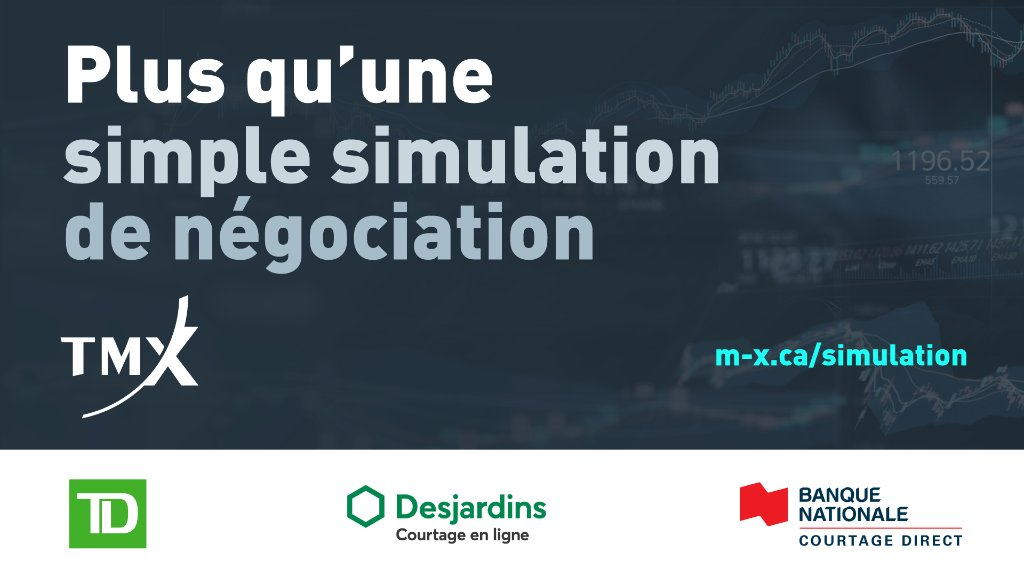 Inscrivez-vous dès maintenant à la 18e Simulation de négociation d'options et courez la chance de gagner le grand prix de 5 000 $  ! 💵 Plus de détails ici :  #simulation #grandprix #compétition #apprentissage #négociation