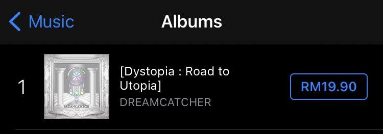 #Road_to_Utopia album no.1 on iTunes Malaysia! 🎉  #Odd_Eye @hf_dreamcatcher