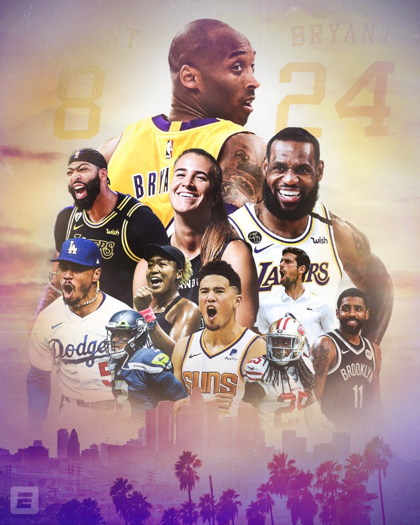 Replying to @SportsCenter: One year.  Kobe left a legacy for future generations.