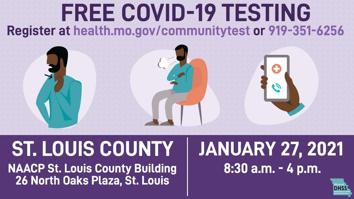 COVID-19 Testing this Wednesday from 8:30am-4pm. Please see below!
