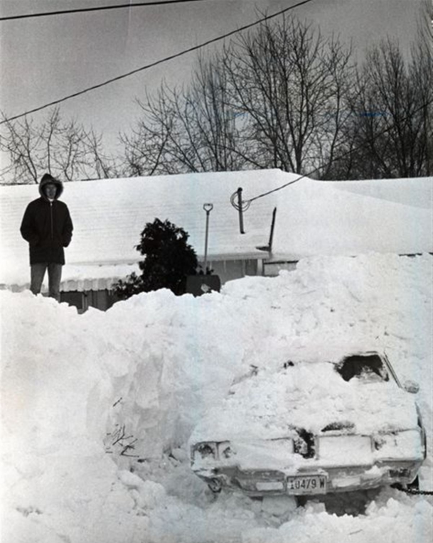 "#OTD in 1978, Ohio was hit by a blizzard many called the ""storm of the century."" With wind gusts of 100 mph, blowing snow and a deadly windchill, the storm caused the deaths of 51 people and more than $100 million in damage.  (Photo: Toledo Blade)"