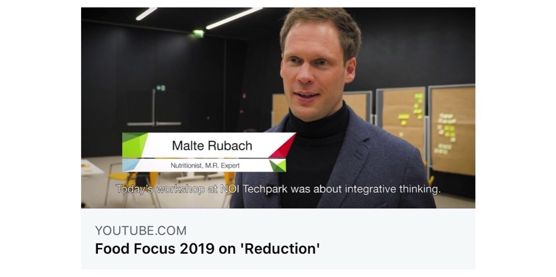 🙋🏼‍♂️ Our Co-founder, #nutritionalscientist @M_R_Expert in South Tyrol, Italy. #tbt #interview 💁🏻 Less #salt, less #sugar, less #fat - those are the challenges for the #foodindustry!  ⤵️ Hier geht's zum #NOITechpark #YouTube -Video 🎥