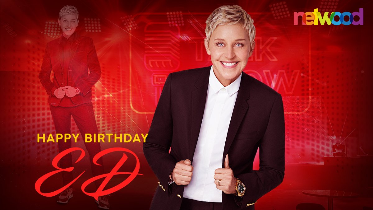 #NetwoodWishes a warm #HappyBirthday to the witty and funny bundle of talent #EllenDegeneres! Keep shining and continue to inspire millions to be who they are with confidence. #HappyBirthdayEllenDegeneres #HBDEllenDegeneres