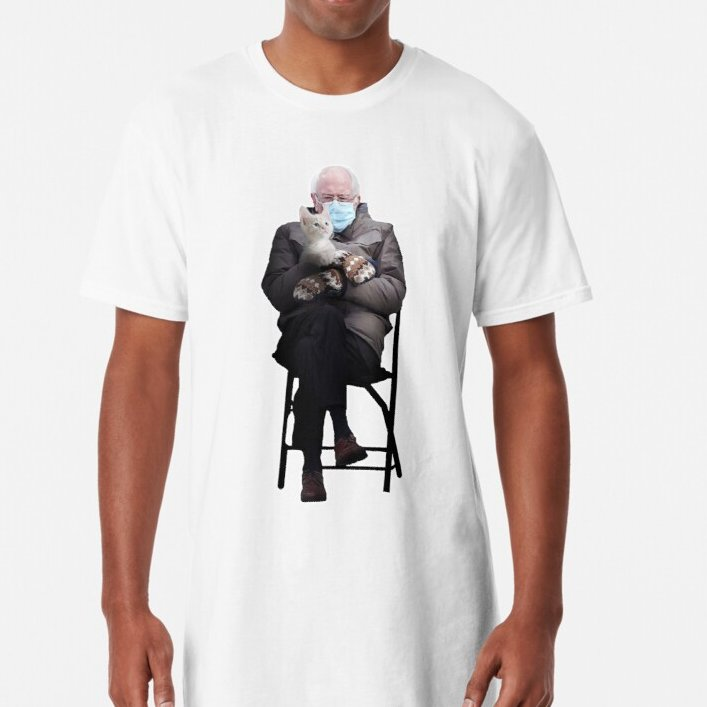 Bernie Sanders with Cat Meme T-Shirt😹 You with your lovely cat in winter. Shop Now     #tuesdayvibe  #BernieSanders #berniesmittens #BernieSandersmemes #BernieSandersMittens #CatsOfTwitter
