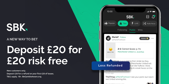 👇🏼 NEW SBK CUSTOMERS 👇🏼  📲 Join 📝 Bet up to £20 on a bet tonight 😍 Get your stake back AS CASH if it loses!  Belting offer for this evenings racing!  Claim HERE 👇🏼   #Ad | New Customer Offer | 18+ | T&C's Apply |