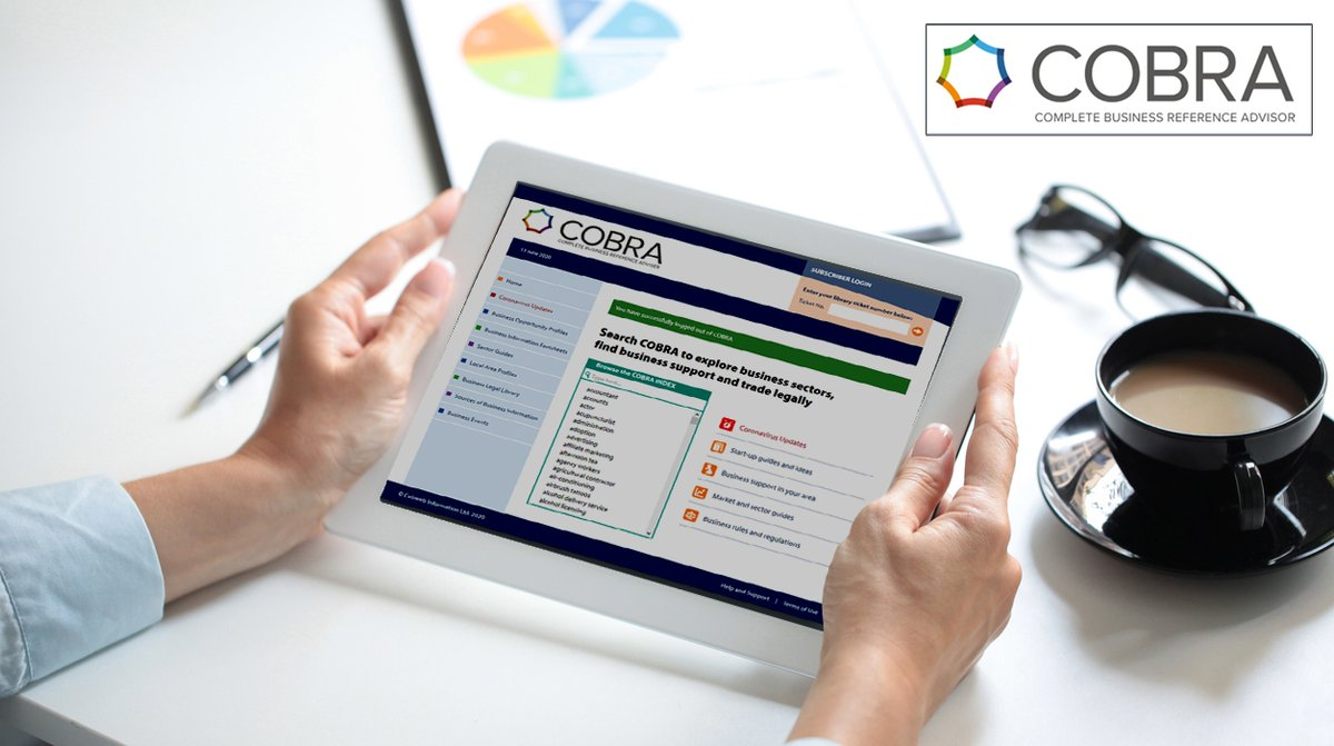 Sign in to #Cobra with your #library card number - the Complete Online Business Reference Advisor. It's an #encyclopedia of practical information for anyone involved in setting up, running or managing a #business enterprise. #LibrariesFromHome