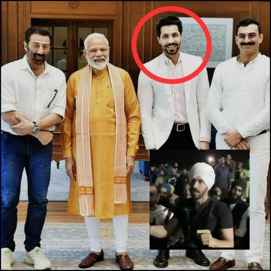 Was Deep Sidhu and his followers responsible for hoisting that flag at the Red Fort?   He is the same person who campaigned for BJP in Lok Sabha Elections. Last time also he caused trouble in the protest by giving alleged Pro-Khalistani statements.