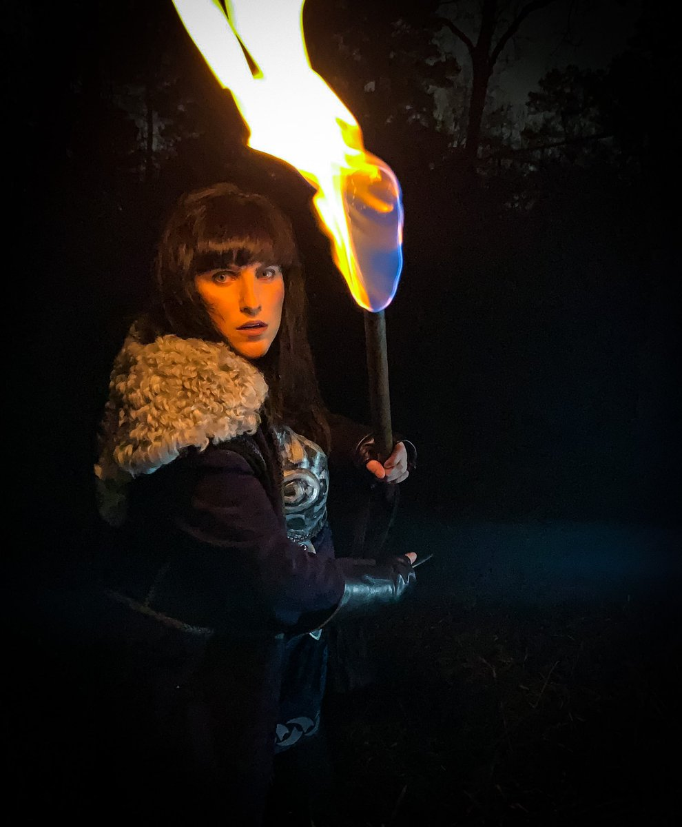 Gabrielle keep moving... If you stare at the dark too long and you will eventually see what isn't there. #xena #xenawarriorprincess #xenaonfire #lucylawless @RealLucyLawless #fire #night #photography #PhotoOfTheDay