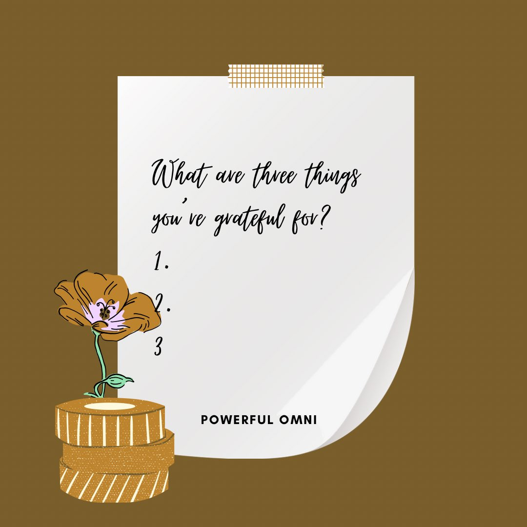 We wanted to bring a page of our gratitude journal to you! What are three things you're grateful for today!! Comment below ! #comment #BlackOutTuesday #BlackOwned #BlackOwnedBusiness