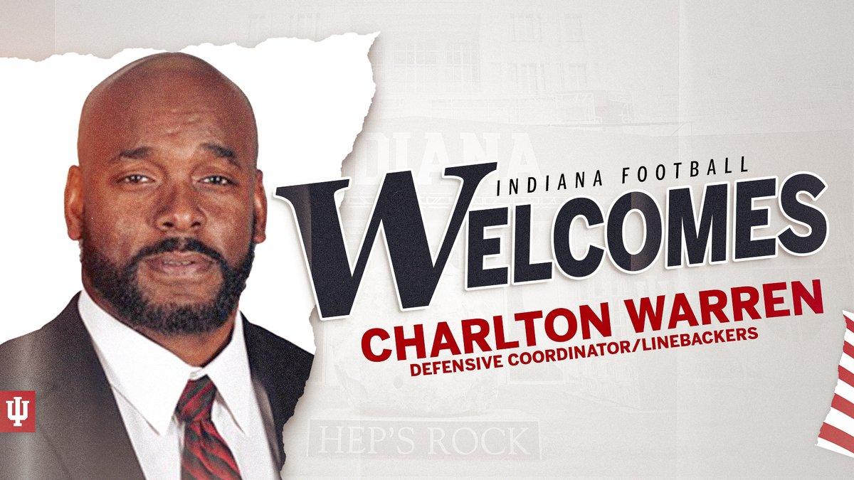 NEWS ➡️ Charlton Warren Named #IUFB Defensive Coordinator.  📝