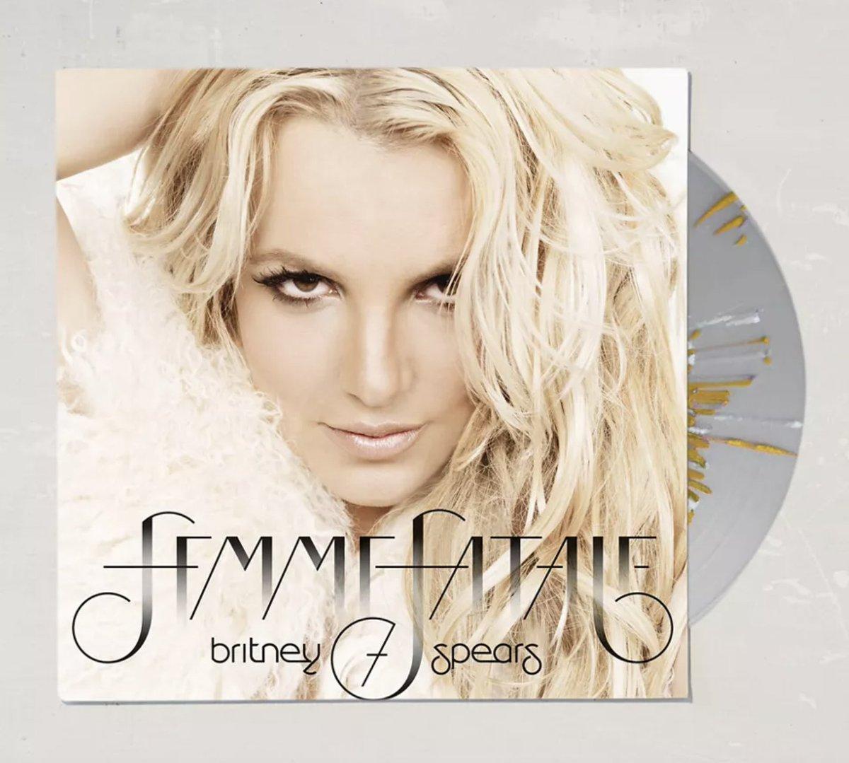 surprise 😉  @britneyspears Femme Fatale is available for preorder on splattered vinyl:
