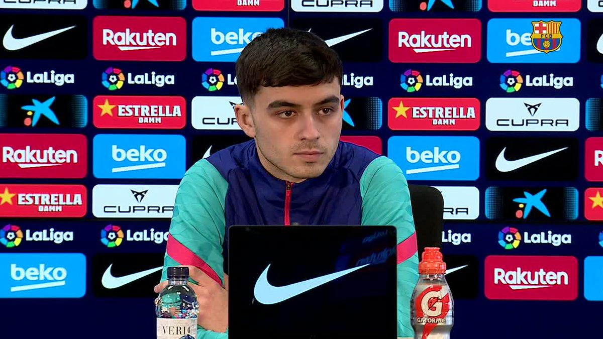 ❝Me he adaptado bien porque estoy en el Club donde quería estar.❞  En un encuentro online con medios chinos, @Pedri  ha repasado sus primeros meses como jugador del Barça.