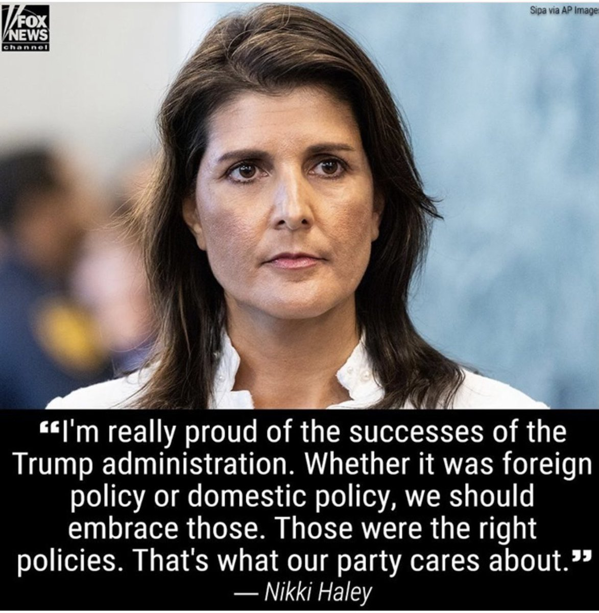 I'm really proud of the successes of the Trump administration. Whether it was foreign policy or domestic policy, we should embrace those. Those were the right policies. That's what the Republican Party cares about.