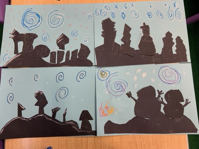 Year 3 have created some winter pictures and acrostic poems inspired by the snowy weather. #Year3 #Snowy