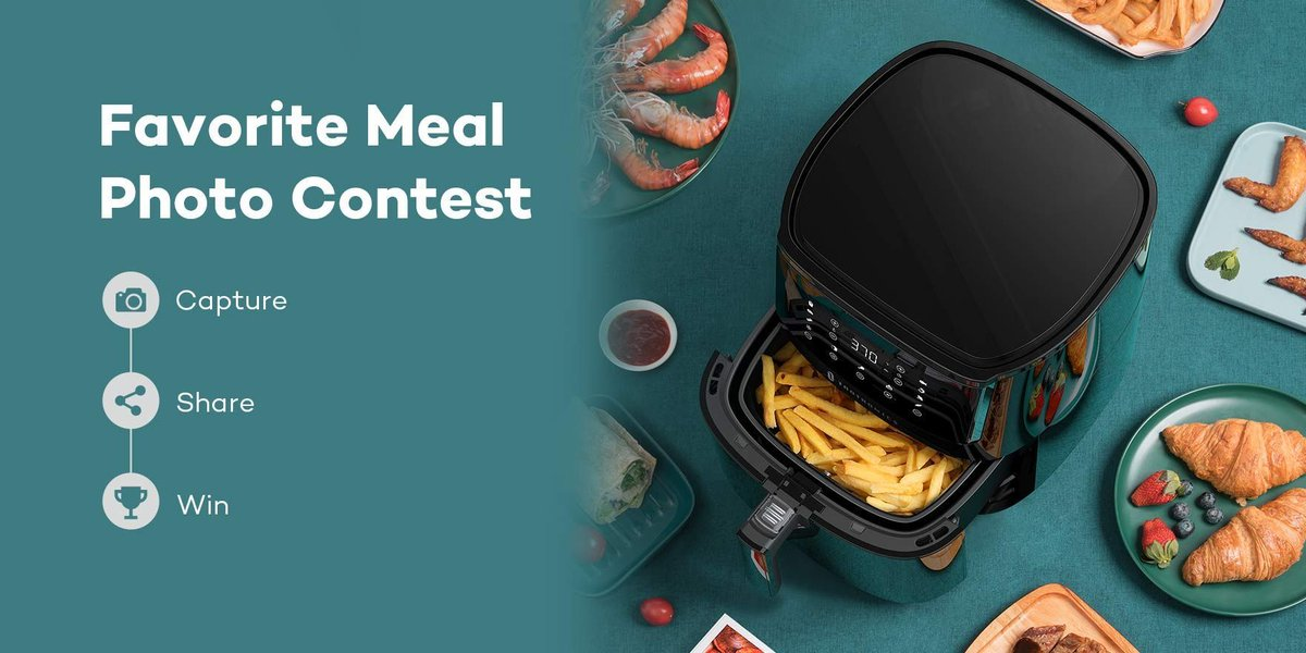 Share the home-cooked meals you made using our Air Fryer! (Ends on Jan.31, 2021)  First Prize (1 winner) - $50 Amazon gift card Second Prize (5 winners) - $15 Amazon gift card  Winners will at first be selected from those who have included their TaoTronics air fryer in the photo. https://t.co/x9BP47BdNr