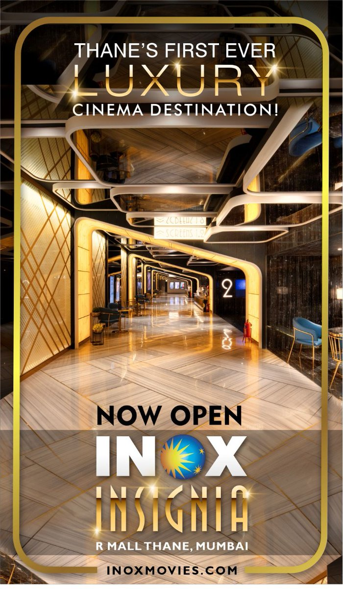 #INOX STARTS 4-SCREEN LUXURY MULTIPLEX IN #THANE... #INOX commenced operations of a 4-screen all-#Insignia multiplex at R Mall in Thane West... #INOX now has 151 cinemas - 641 screens - in 69 cities across #India.