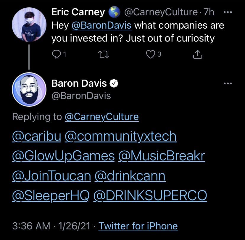 .@CarneyCulture COMMUNITYx is so proud to have @BaronDavis as an investor and advisor as we build the best #SocialNetworkForSocialGood. Download the app and #UniteWithUs✊🏾