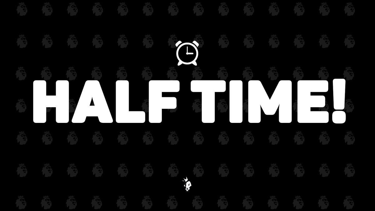 نهاية الشوط الأول:  ويست بروميتش 0 - 4 مانشستر سيتي  #WBAMCI